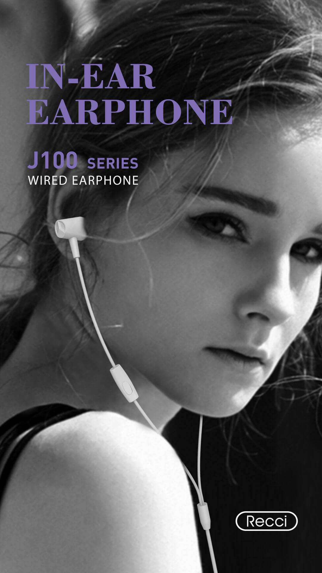 J100 Earphone Recci